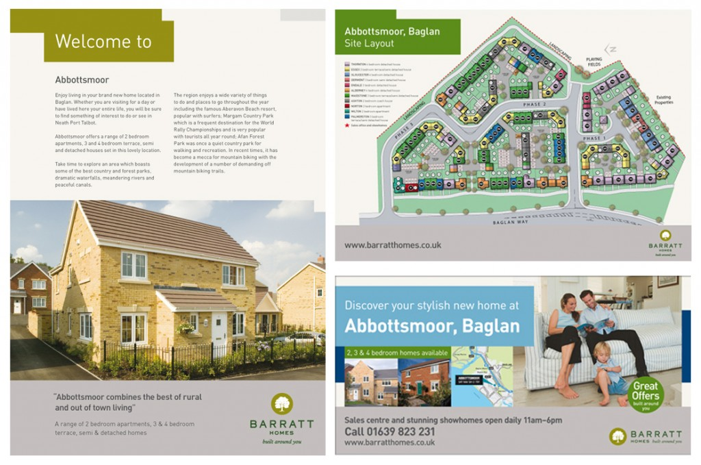 'Welcome to' leaflet, 'Site plan' leaflet and 48 sheet billboard