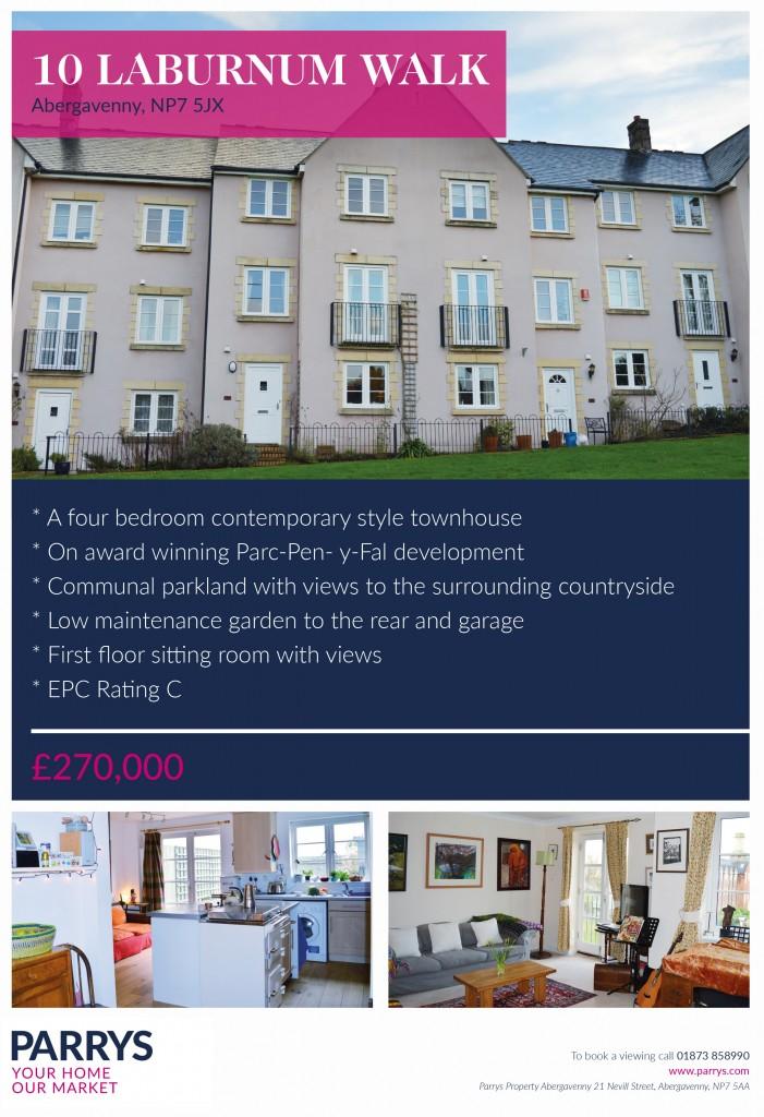 Parrys Property, Laburnum Walk, Abergavenny
