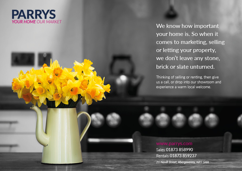 Parrys Estate Agents Abergavenny, Branding, Advertising